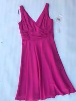 Maggy London Petite Womens Azalea Sleeveless Silk Dress size 2 Pink NWT