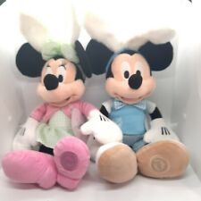 """New listing Disney Store Mickey Minnie Mouse Easter Bunny Plush Doll 19"""" Toy Gift New!"""