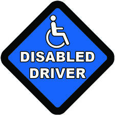 DISABLED DRIVER ON BOARD WARNING SIGN Sticker Vinyl Decal for car vehicle window