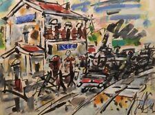 Eugène PAUL dit GEN PAUL (1895-1975). Pastel. v206