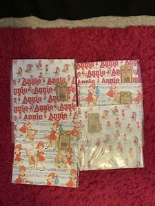 ANNIE WRAPPING PAPER 6 PACKS 2 SHEETS PER PACK  VINTAGE NORCROSS