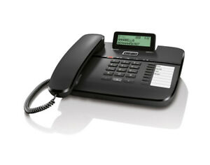 Gigaset DA810A - Schnurgebundenes Telefon, Anrufbeantworter, Display, schwarz