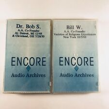 Official Alcoholics Anonymous CASSETTES recordings of founders Bill W. & Dr Bob