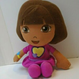 """Dora The Explorer Doll Plush Toy Fisher-Price 10"""" talking toy not tested as is"""