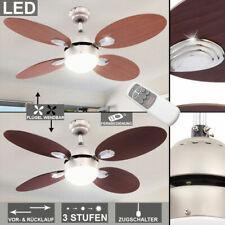 LED Decken Ventilator bunt Fernbedienung Vorlauf Rücklauf 3-Stufen Kühler Lampe