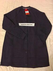 """Nike Women's Sportswear """"Rally"""" Longline Purple Jacket Size XS (841650 524)"""