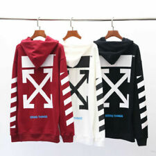 FW19 Off-White Women Men Unisex C/O Virgil Diagonal Arrows Hoodies Sweatshirts