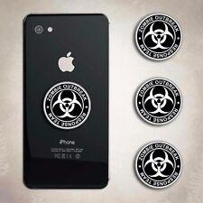 Zombie Response Team White iphone Decal Phone Arcade Biohazard Sticker Cell
