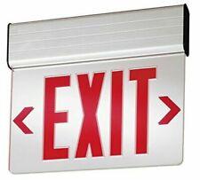 Lithonia Lighting Edg 1 R El M6 Aluminum Led Emergency Exit Sign 3 Watts Red