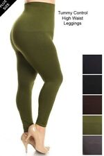 High Waist Compression Leggings Warm Seamless Jeggings skinny pants PLUS SIZE