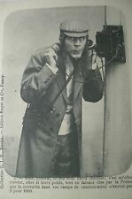 cpa NANCY ancien telephone homme postcard phone cartolina telefono AK telefon pk