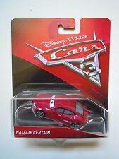 NOVITA' CARS 3 Disney pixar cars NATALIE CERTAIN 2017 RARO mattel 1/55 maclama