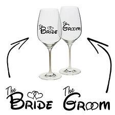 SPOSA SPOSO In Vinile Decalcomania Adesivo VINO BICCHIERE TAZZA MUG WEDDING Hen Stag REGALO UNICO