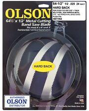 "Olson Hard Back Metal Cutting Band Saw Blade 64-1/2"" inch x 1/2"", 24TPI, USA"