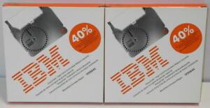 TWO Genuine IBM Lexmark Wheelwriter Easystrike Correctable Ribbon Cassettes