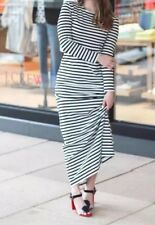 JCREW COLLECTION Petite Striped Long Sleeve Maxi Dress 10P G6561 SPRING 2017 NEW
