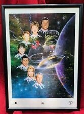 LOST IN SPACE - Signed LITHOGRAPH Framed Poster ORIGINAL CAST 1997 TV SciFi 1960