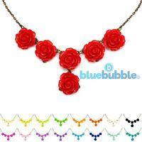 Bluebubble ENGLISH ROSE Vintage Style Statement Bib Necklace Wedding Prom Gift