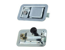 2 x Paddle Lock Zinc Plated Recessed Flush Fit Surface Mounted Truck Horsebox