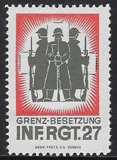 """Switzerland """"Soldier"""" stamp: 1945 Infantry #228: Inf.Rgt.27 -  sw89a"""