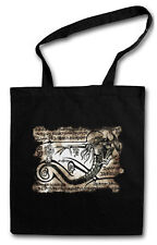CTHULHU NECRONOMICON PIECE SHOPPER SHOPPING BAG Alien Ufo TR3B Eduction Flying
