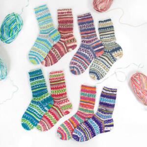 8 x 100 gr. Sockenwolle/Strumpfwolle Rellana 4fach Flotte Socke Frische Brise