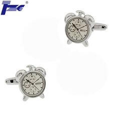 Men Alarm Clock Model Shirt Cufflinks With Velvet Bag TZG Cuff Links