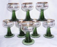 8 Vintage Roemer German Wine Etched Glasses Traben Trarach Moses River Motel
