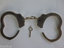 Vintage CHP EDITION The Peerless Handcuff Company Pat 1531451-1872857 Chrome  #5