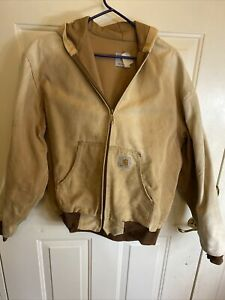 Vintage Carhartt J131 Men's Hoodie Hooded Jacket, Fits Size L-XL - Brown