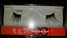 Red Cherry False Eyelashes.  Black. Style W 004. Goth. Long Corner Lash. I pair.
