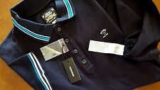 New Diesel T-Nox Polo Shirt Midnight Blue Collar Polo Size Medium $98.00
