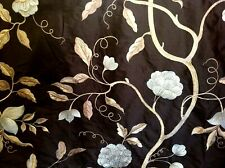 Incredible top end 100% Silk with trailing Tea Rose and oyster embroidery £45 pm