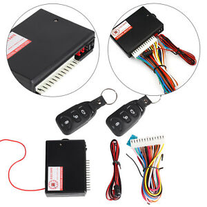 Car 2 Doors Keyless Locking Kit Remote Central Vehicle Entry System DT Universal