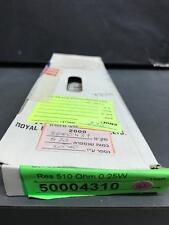 Carbon Film Resistor 510 OHM 1/4W 5% - APPROX 500 PCS LOT