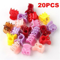 20PCS Kids Cute Colorful Assorted Mini Small Plastic Hair Clips Claws Clamps YK