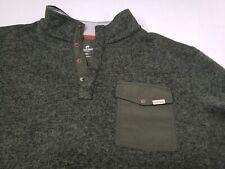 Woolrich Drifter Sweater Green Breast Pocket Snap Button Mens Size XXL