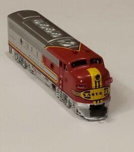 N Scale Bachmann Santa Fe F7A Diesel Locomotive wLED Headlight NEW