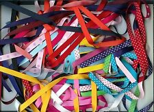 100 yd lot of 3/8 in ribbon solids, swiss dots, polkadots  SURPRISE PACKAGE