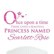 Girls Personalised Wall Stickers Nursery/Bed Room Choice of Colours & Designs