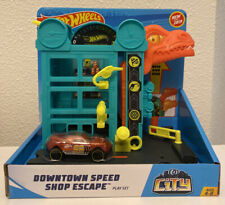 Hot Wheels City Downtown Speed Shop Dinosaur Escape. BRAND NEW COMES IN BOX!