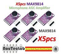 5pcs MAX9814 Microphone Amplifier Board Module Auto Gain Control AGC Electret