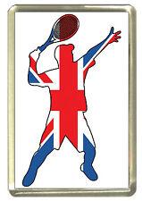 Union Jack Tennis Fridge Magnet - Best of British Sport