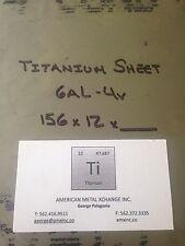 """TITANIUM SHEET 6AL-4V .156"""" X 12"""" X 12"""""""