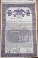 1955 Bond Certificate: 'Maine Central Railroad Company' - Purple