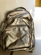New Kipling Seoul Go Large Laptop Backpack with Original Tag - Sparkly Gold