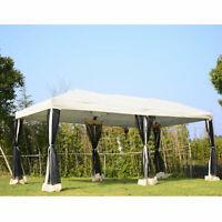 10' x 20' Pop-Up Party Tent Gazebo Wedding Canopy w/ Removable Mesh Sidewalls