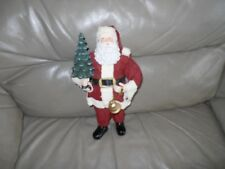 Clothtique Santa Tree Holiday Home Decor Christmas Figurines Collectibles 10 In.