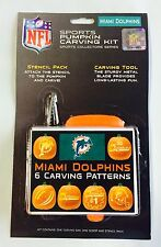 Miami Dolphins Halloween Pumpkin Carving Kit New! Stencils for Jack-o-latern