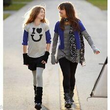 La redoute GIRLS BLACK turn up trendy cotton shorts 14 15 yrs EU 168 NEW